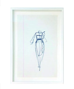 10 Ink Sketches by Iconic Fashion Designer Halston (PRICED EACH)