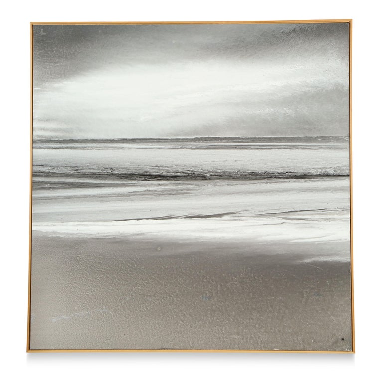 Guouache on paper mounted on canvas    Lee Seung-Ha is a Korean artist who is loved by his country and considered a national treasure. He is known best for his seascapes and mountain scapes.