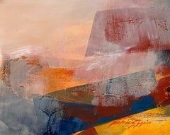 1980s Abstract Landscape Patricia Zippin Academie Julian in Paris