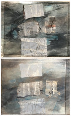 Pair of 1980s Abstract Paintings Bay Area Female Artist Academie Julian