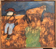 """The Cowboy"" Impasto Painting c. 1960s Brooklyn Museum Art Brut"