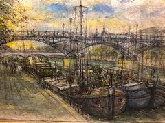 """""""Barges Under Pont Neuf"""""""