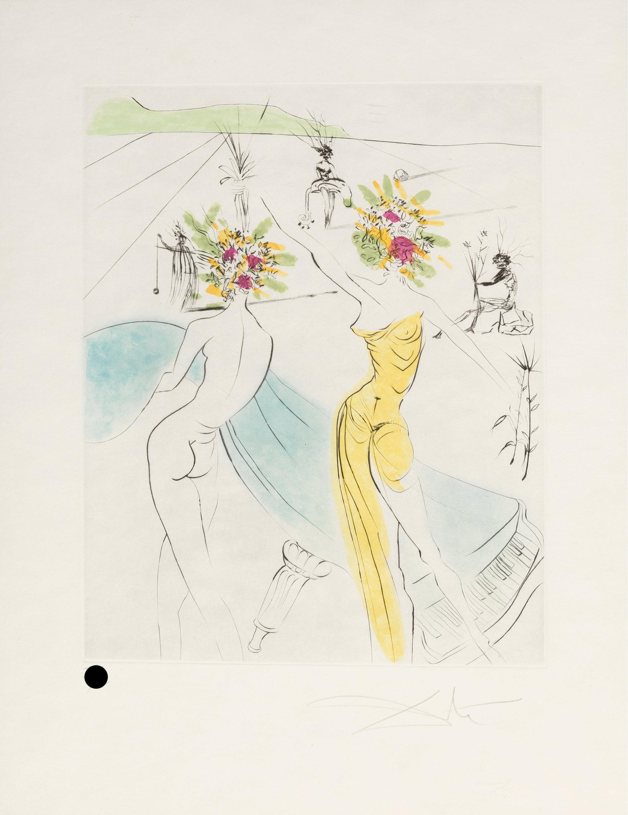 Les femmes-fleurs au piano (Flower-women at the piano)
