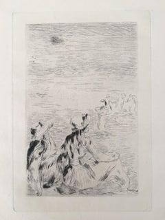 Sur la plage, à Berneval (D.; S. 5)
