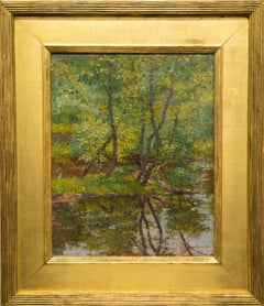 """Impressionist Landscape"" Water, Trees, Summer, Reflection, Quiet, Colors"