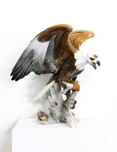 """""""Eagle"""" Hutschenreuther Porcelain Sculpture, Rich Honey Colors"""