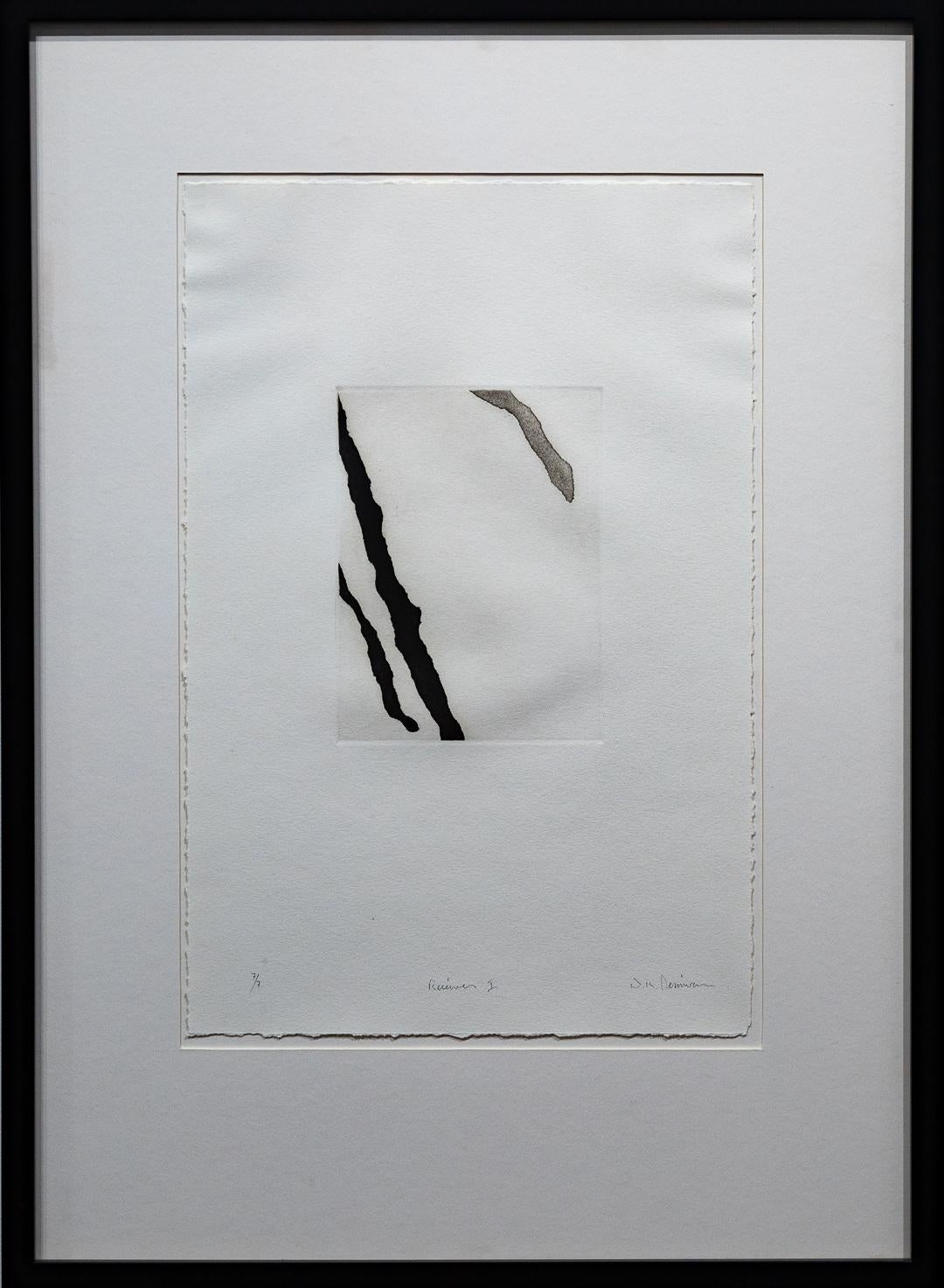 """""""Receiver I"""" Print, Black and White Abstract, Signed and Numbered"""