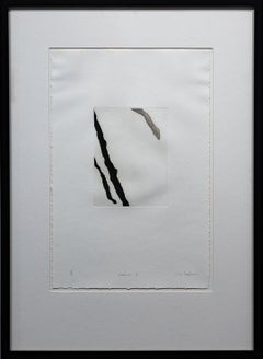 """Receiver I"" Print, Black and White Abstract, Signed and Numbered"