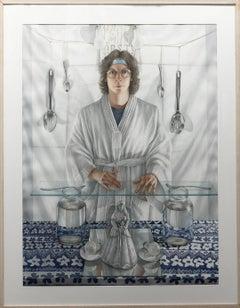 Watercolor, Female, Detailed Psychological Portrait