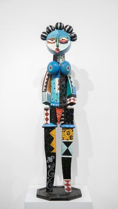 """""""Found Object Sculpture"""" Female, Abstract, Colors"""