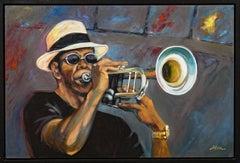 """Solo Trumpet"" Male, Instrument, Colors, Figurative"