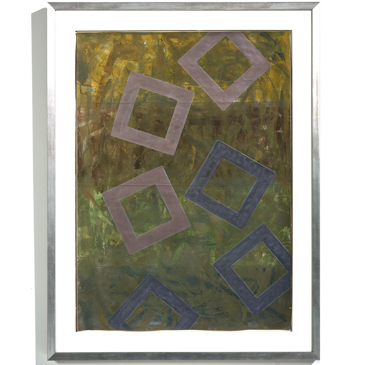 """""""Falling Squares"""" Abstract, Linear, Muted Colors, Acrylic"""