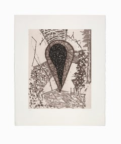 """""""Untitled II"""", Abstract Etching and Aquatint Lithograph, Signed and Numbered"""