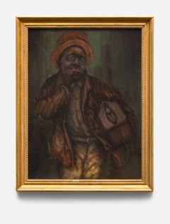 """""""Black Youth"""" Young Black Male, Harmonica, Deep Earth Tones, African American"""