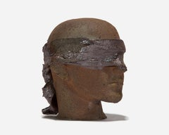 Life-Sized Ceramic Blindfolded Head I