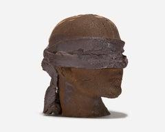 Life-Sized Ceramic Blindfolded Head II