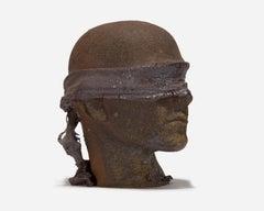 Life-Sized Ceramic Blindfolded Head III