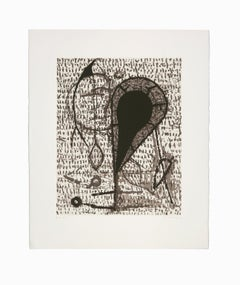 """""""Untitled I"""", Abstract Etching and Aquatint Lithograph, Signed and Numbered"""