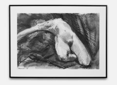 """Female Nude"" Charcoal Sketch, Nude Female"