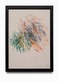 """""""Untitled"""" Abstract, Ink on Paper, Multiple Colors, Signed"""