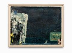 """Farm No. 5"" Abstract, Dark Dramatic Black & Geometric Shapes"