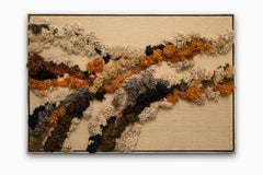 """Untitled"" Abstract, Organic Flow, Fiber Art, Earth Tones"