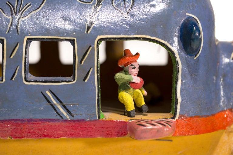 """Santa Cruz de las Huertas Jalisco"", Ceramic, Glaze, Colors, Mexican Folkart For Sale 1"