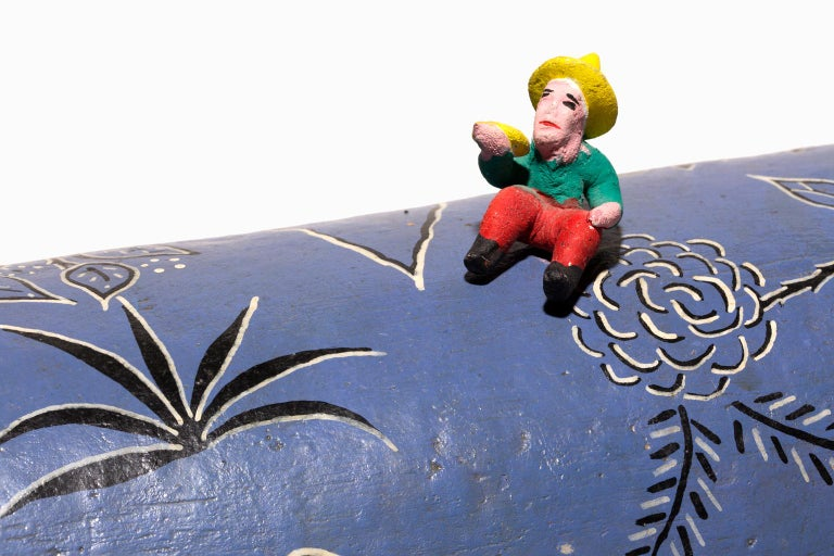 """Santa Cruz de las Huertas Jalisco"", Ceramic, Glaze, Colors, Mexican Folkart For Sale 3"