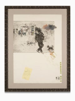 """""""Marlowe and the s. o. raincloud"""" Etching & Aquatint, Signed by Artist"""