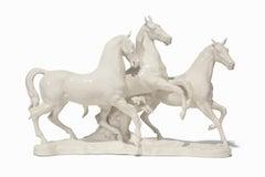 """Junges Blut (Young Blood)"", White Porcelain Horses"
