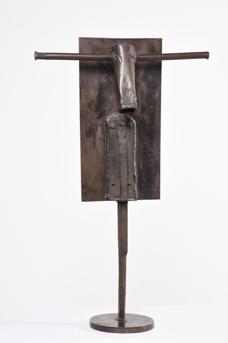 """""""Bronze Bull"""" Modern Figurative Sculptural Abstract Bronze"""