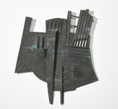 """""""Roma II""""  Abstract Bronze Sculptural Wall Hanging"""