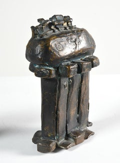 """Bronze Sculpture II"" Abstract Bronze American Modern Sculpture"