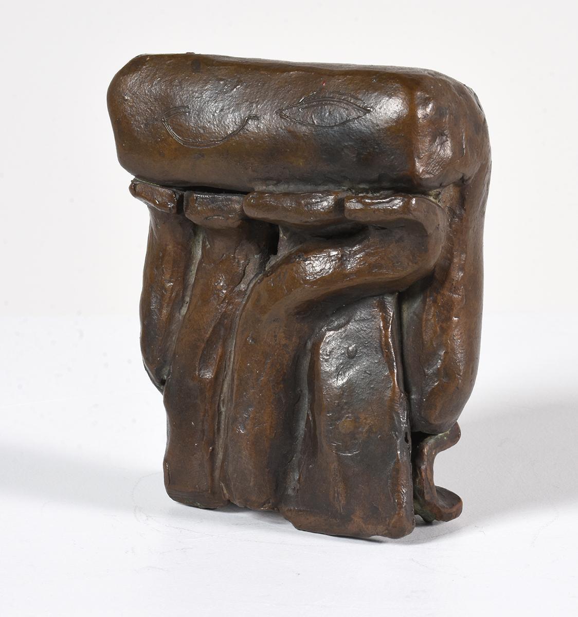 """""""Bronze Sculpture I"""" Abstract Bronze American Modern Sculpture"""