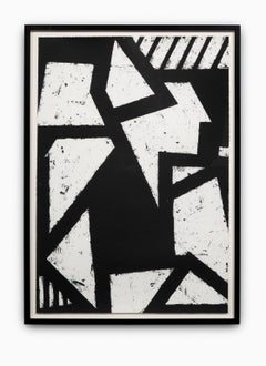 """""""Untitled #1"""" Hand Printed Black & White Lithograph from Set """"Six Prints 1972"""""""