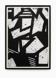 """""""Untitled #2"""" Hand Printed Black & White Lithograph from Set """"Six Prints 1972"""""""