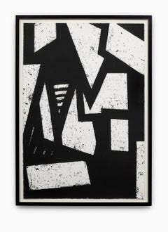 """""""Untitled #3"""" Hand Printed Black & White Lithograph from Set """"Six Prints 1972"""""""