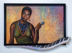 """Nina Simone"" Portrait, Singer, Song Writer, Music, Colors, Oil, Acrylic"