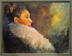 """Fancy"" Female Portrait, Colors, African-American"