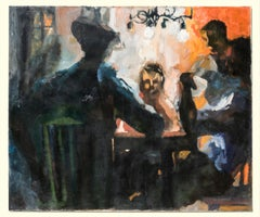 """The Card Players"" Interior Scene, Card Players, African-American, Intense Color"