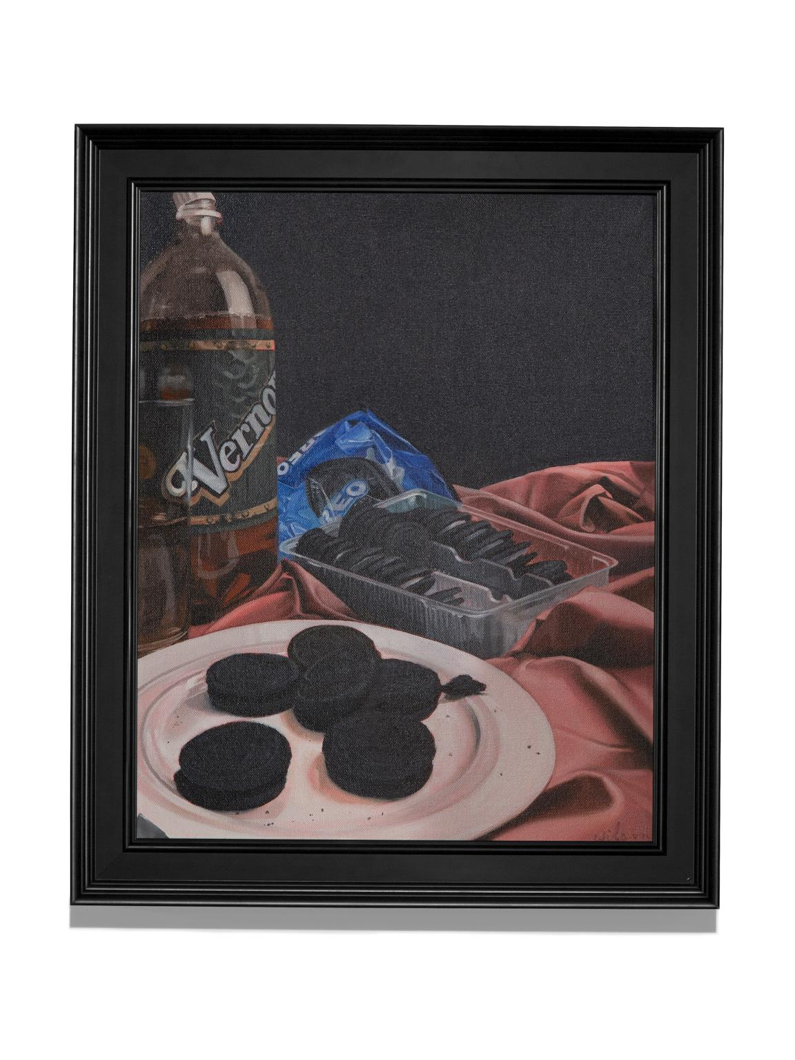 """""""Vernors & Oreos"""" Treats for Stevie Wonder, Still-Life, Oil, Colorful"""