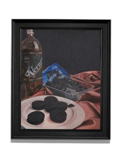 """Vernors & Oreos"" Treats for Stevie Wonder, Still-Life, Oil, Colorful"