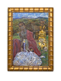 """Slice of Cotton Harvest"" Figurative, Outdoors, Labor, Colors, Oil on Canvas"