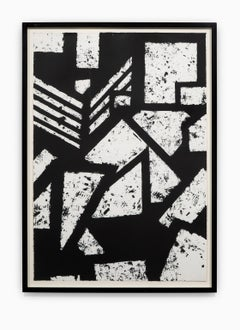 """""""Untitled #4"""" Hand Printed Black & White Lithograph from Set """"Six Prints 1972"""""""