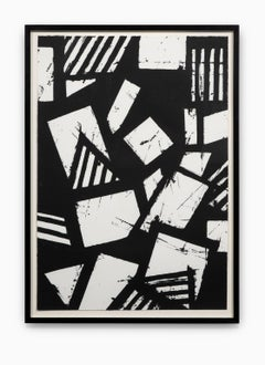 """""""Untitled #5"""" Hand Printed Black & White Lithograph from Set """"Six Prints 1972"""""""