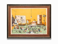 """""""Sunday Dinner for a Soldier"""", Illustration, Lithograph, Signed"""