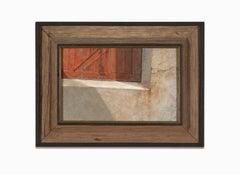 """Warehouse"" Acrylic, Detail of a Closure, Geometric"