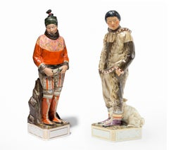 """""""A Man and Woman From Greenland"""" Painted Porcelain Figurine, Royal Copenhagen"""