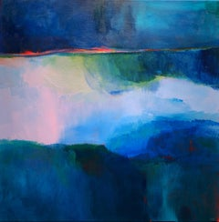 """Reflection II"" - Kate Trafeli, 21st Century, Abstract Painting, Blue"