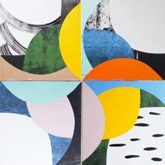 """Pull"" - Jo Hummel, 21st Century, Mixed Media, Minimalist"